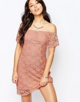 Glamorous Off The Shoulder Lace Dress