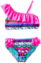 Hello Kitty Aztec Fun Ruffle Bikini (Little Girls)