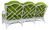 David Francis Furniture Chippendale Patio Sofa with Cushions Fabric: Buttercup