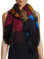 Faliero Sarti Colorful Wool Scarf, Multicolor