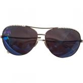 Jimmy Choo White Metal Sunglasses