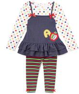 Nannette Blue & Red Apple Tunic & Leggings - Girls