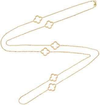 GABIRIELLE JEWELRY 22K Over Silver Cz Open Clover Necklace