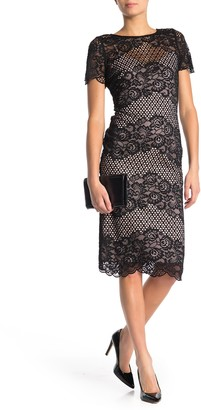 Donna Ricco Floral Lace Bodycon Dress