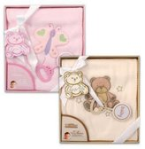 """Bunchkin Baby Gift Set - Fleece Blanket w/Rattle 30x30"""""""