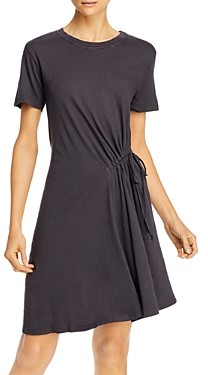 Current/Elliott Current/Elliot Poppy Cotton Ruched Tee Dress