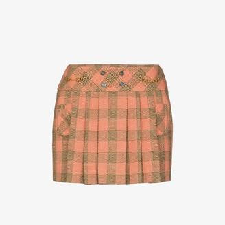 Gucci Optical pleated wool mini skirt
