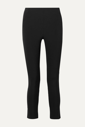 Veronica Beard Cropped Stretch-crepe Skinny Pants - Black
