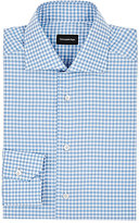 Ermenegildo Zegna Men's Gingham Cotton Shirt-BLUE, WHITE, TURQUOISE