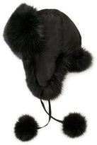 annabelle Leo Real Fox Fur Trapper Hat