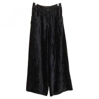 Yohji Yamamoto Black Polyester Trousers