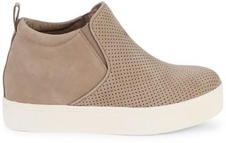 J/Slides Sallie Hidden Wedge Suede Sneakers