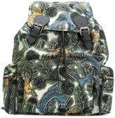Burberry Beasts print gabardine backpack - men - Nylon - One Size