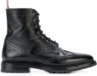 Thom Browne Pebble Grain Wingtip Boot