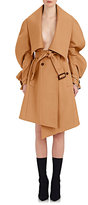 Burberry X Barneys New York Women's Asymmetric Double-Faced Wool Wrap Coat