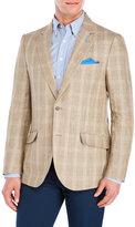 Tailorbyrd Khaki Plaid Linen Sport Coat