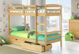 Josie Argos Home Pine Bunk Bed with Drawers