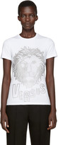Versus White Eyelet Lion T-Shirt