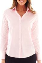 Liz Claiborne Long-Sleeve Wrinkle-Free Oxford Shirt