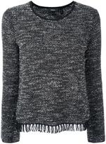 Theory frayed hem jumper - women - Cotton/Polyester/Rayon/Wool - L