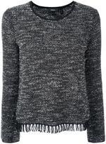 Theory frayed hem jumper - women - Wool/Cotton/Polyester/Rayon - L