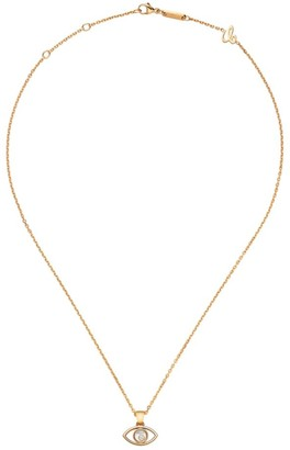Chopard Happy Diamonds & 18K Rose Gold Evil Eye Pendant Necklace