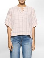 Calvin Klein Lightweight Plaid Henley Shirt