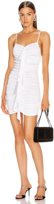 Alexandre Vauthier Crepe Knit Mini Dress in White | FWRD