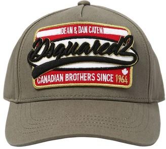 DSQUARED2 Gabardine Baseball Hat W/ Patch