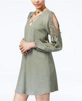 City Studios Juniors' Crochet Cold-Shoulder Dress