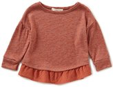 Copper Key Little Girls 4-6X Ruffle-Hem Knit Top