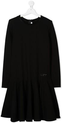 Givenchy Kids TEEN embossed logo midi dress