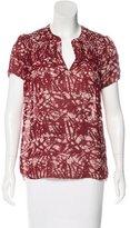 Ulla Johnson Printed Short Sleeve Top