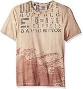 Buffalo David Bitton Men's Tinow Short Sleeve Crewneck Washed Fashion Graphic T-Shirt