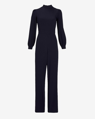 Express Long Sleeve Mock Neck Jumpsuit