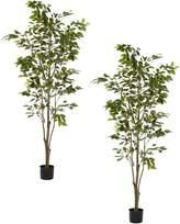 Rogue Artificial Ficus Tree (Set of 2), 90x183cm