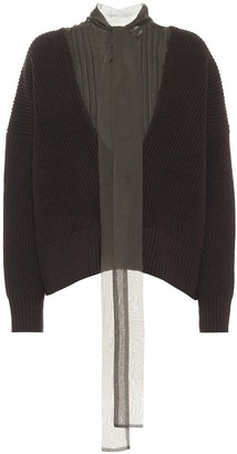 Sacai Rib-knit wool sweater