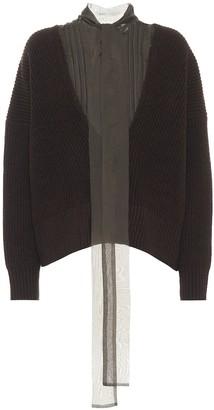 Sacai Ribbed-knit wool sweater