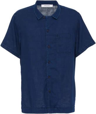 Frame Camp Collar Cotton Button-Up Shirt