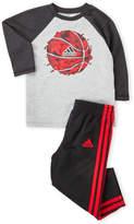 adidas Infant Boys) Two-Piece Raglan Tee & Track Pants Set