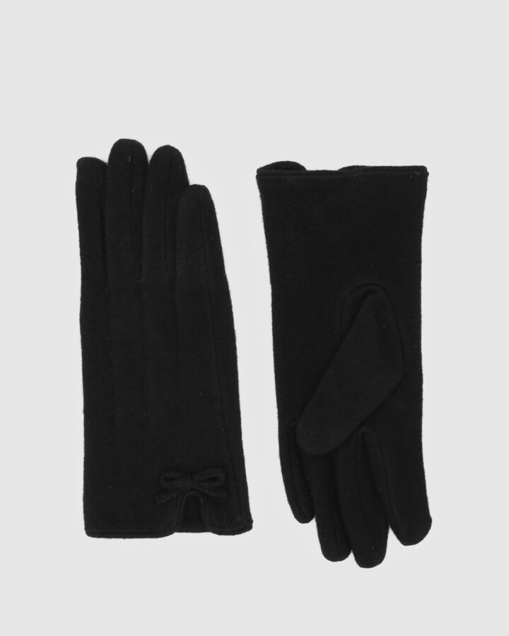 Morgan & Taylor Women's Black Gloves - Valentina Gloves - Size One Size at The Iconic