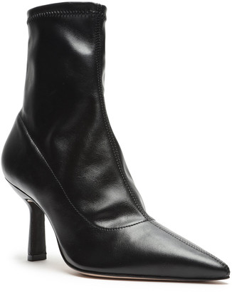 Schutz Charleni Stretch Leather Ankle Booties