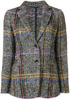 Etro plaid blazer - women - Silk/Cotton/Polyamide/Alpaca - 40