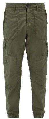 Stone Island Seersucker Cargo Trousers - Mens - Green