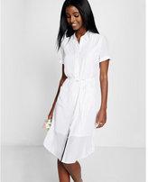 Express tie-waist shirt dress