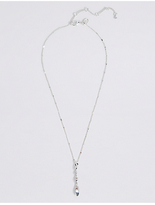 M&S Collection Silver Plated Twist Stick Necklace