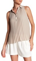 Nicole Miller Pleated Sleeveless Blouse