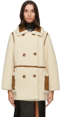 Stand Studio Off-White and Tan Chloe Jacket