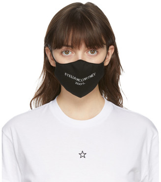 Stella McCartney Black Logo Face Mask