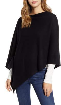 Halogen Wool & Cashmere Asymmetrical Poncho